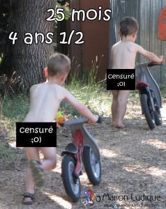 vélo d'apprentissage à quel âge