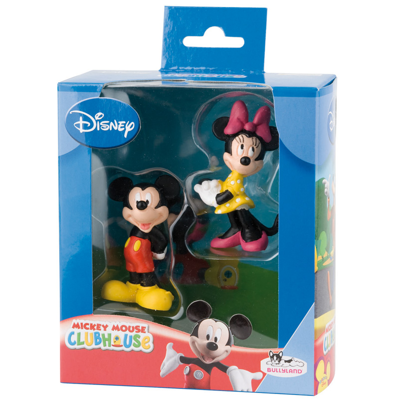 coffret figurines mickey minnie