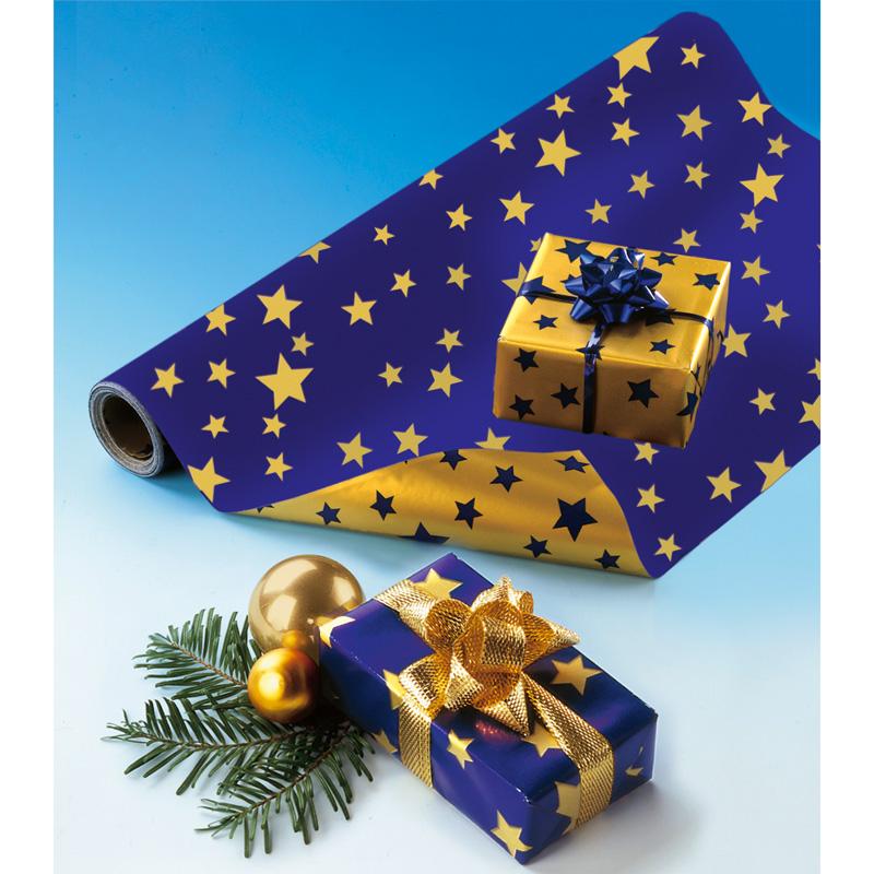 rouleau papier cadeau etoiles