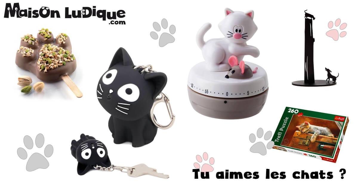 petits cadeaux pour les amoureux des chats le blog de maison ludique d co cadeaux. Black Bedroom Furniture Sets. Home Design Ideas