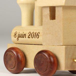 locomotive bois personnalisée